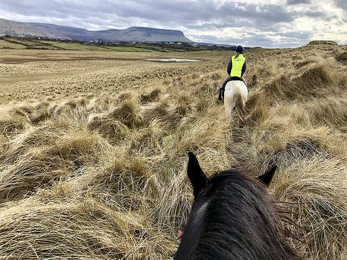 horseback riding, belbulben, county sligo, wild atlantic way, ireland