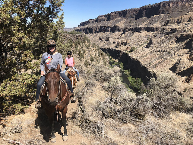 smith rock trail rides in central oregon, nancy d brown equestrian travel expert, nancy d brown, horseback rides central oregon, horseback rides crooked river, visit central oregon