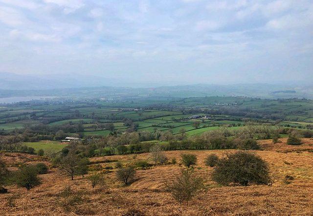 brecon beacons national park landscape, llangorse lake, brecon powys wales