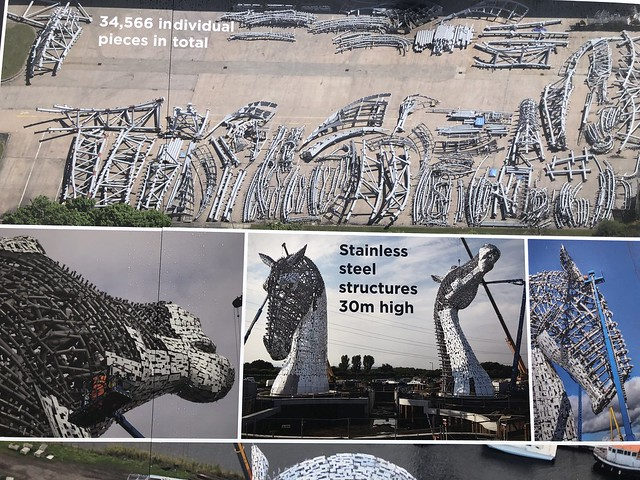 the kelpies construction, equine sculpture, stainless steel sculpture