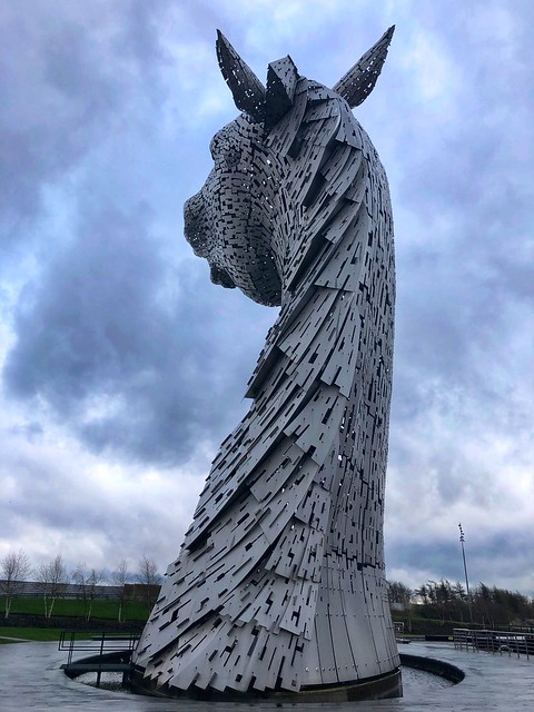 baron, the kelpies, equine horse sculpture, falkirk scotland horse sculpture