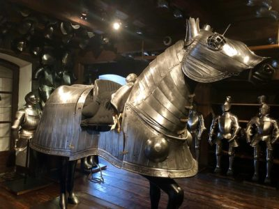 horse armor protected horses in battle, Landeszeughaus world's largest armory museum