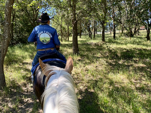 Owner Nancy Fiddler leads trail rides into their Sonoma County wildlife corridor on horseback.